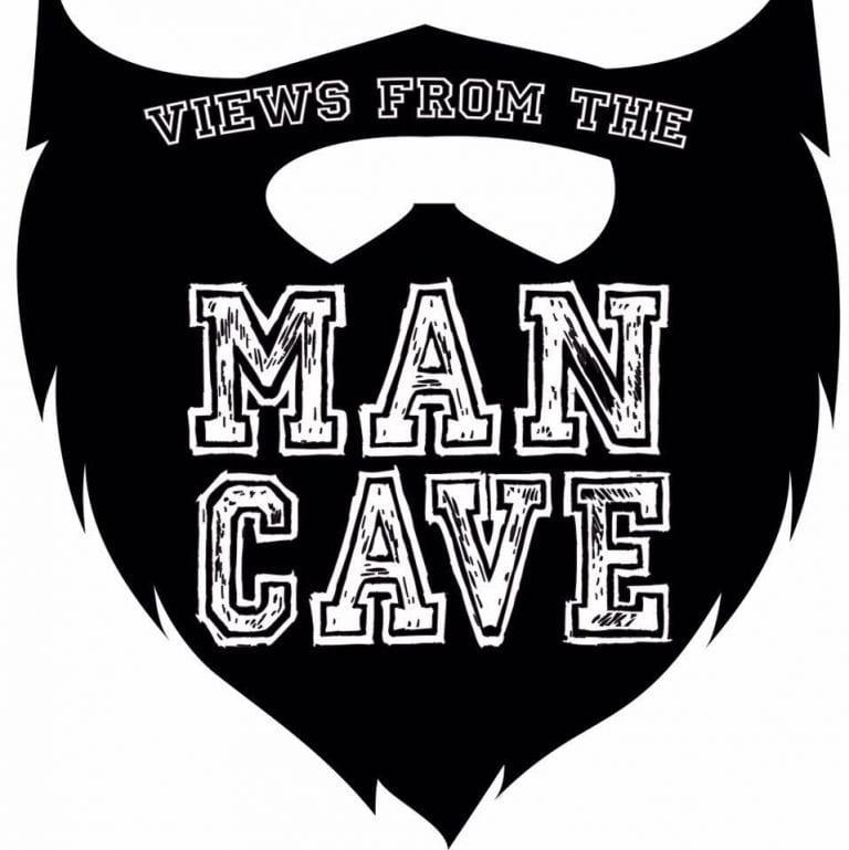 man cave logo black