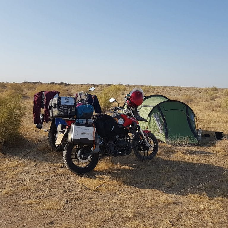 red sinnis terrain 125cc camp site