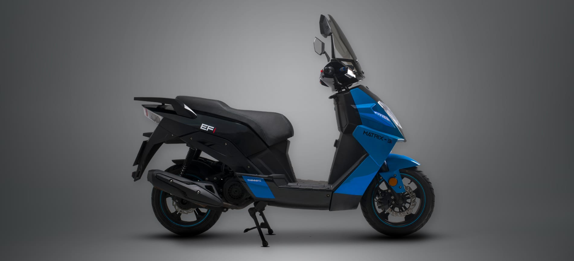 Sinnis Matrix 3i 125cc Scooter Moped Blue and Black