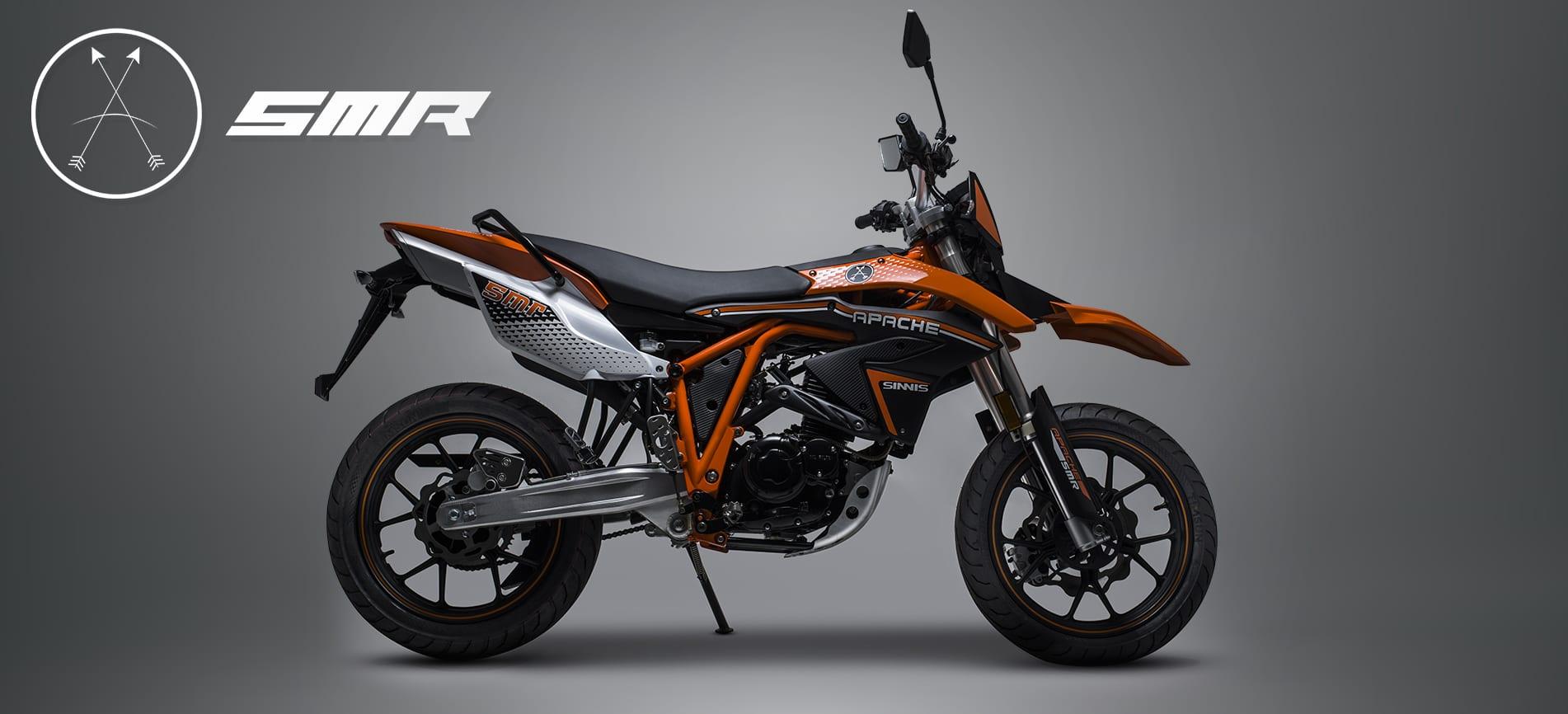 Sinnis Apache SMR 125cc Motorcycles Motorbike Orange and Black