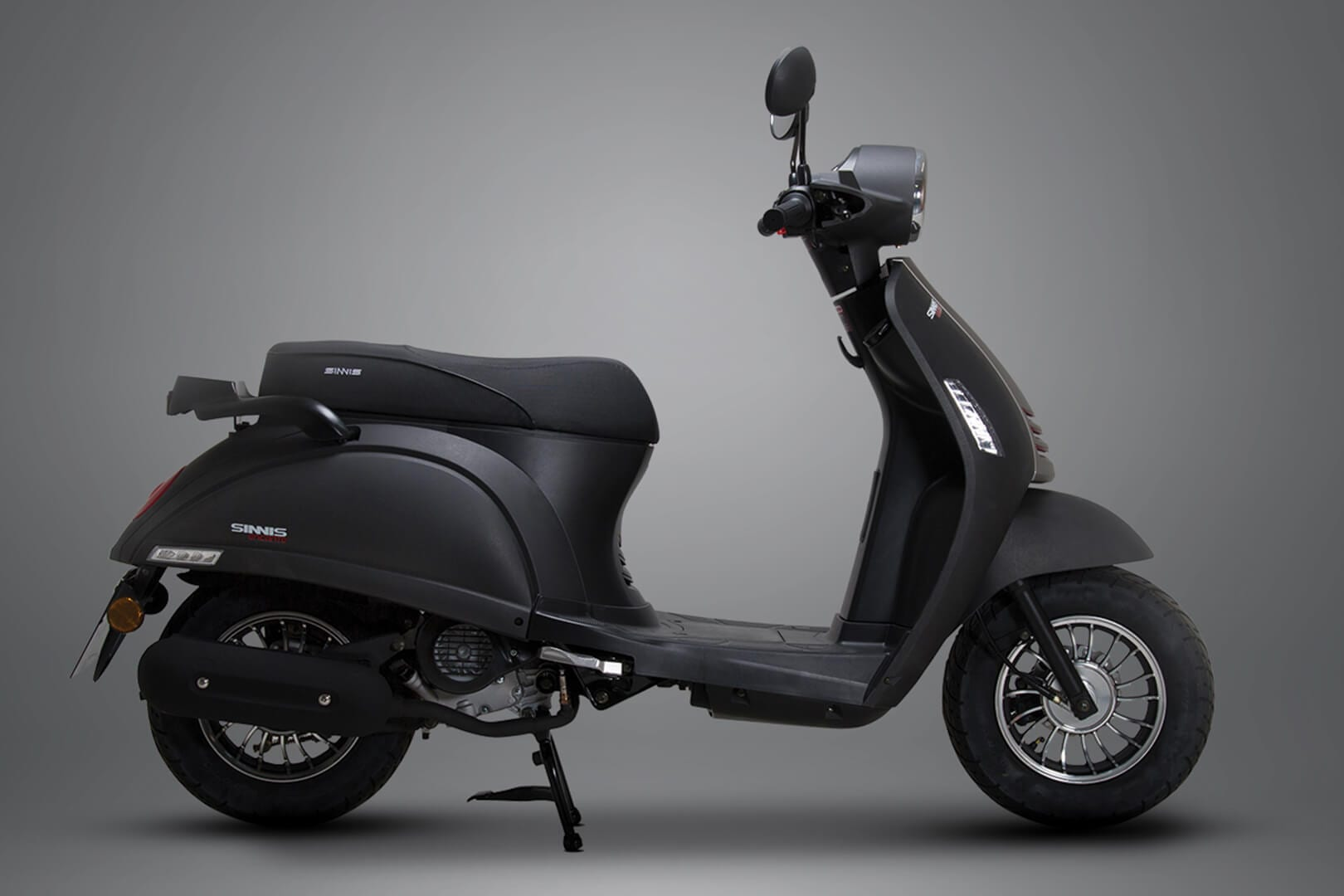 Sinnis Black Encanto 50cc scooter Studio Image