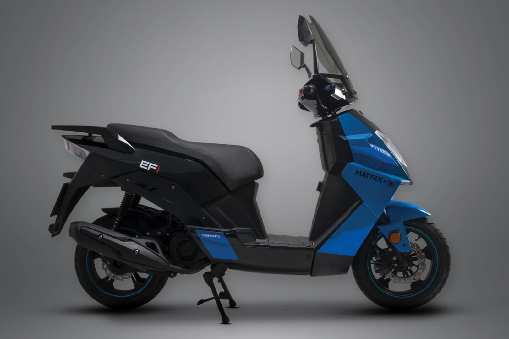 Sinnis Matrix-3i utlra blue 125cc Scooter Studio Image