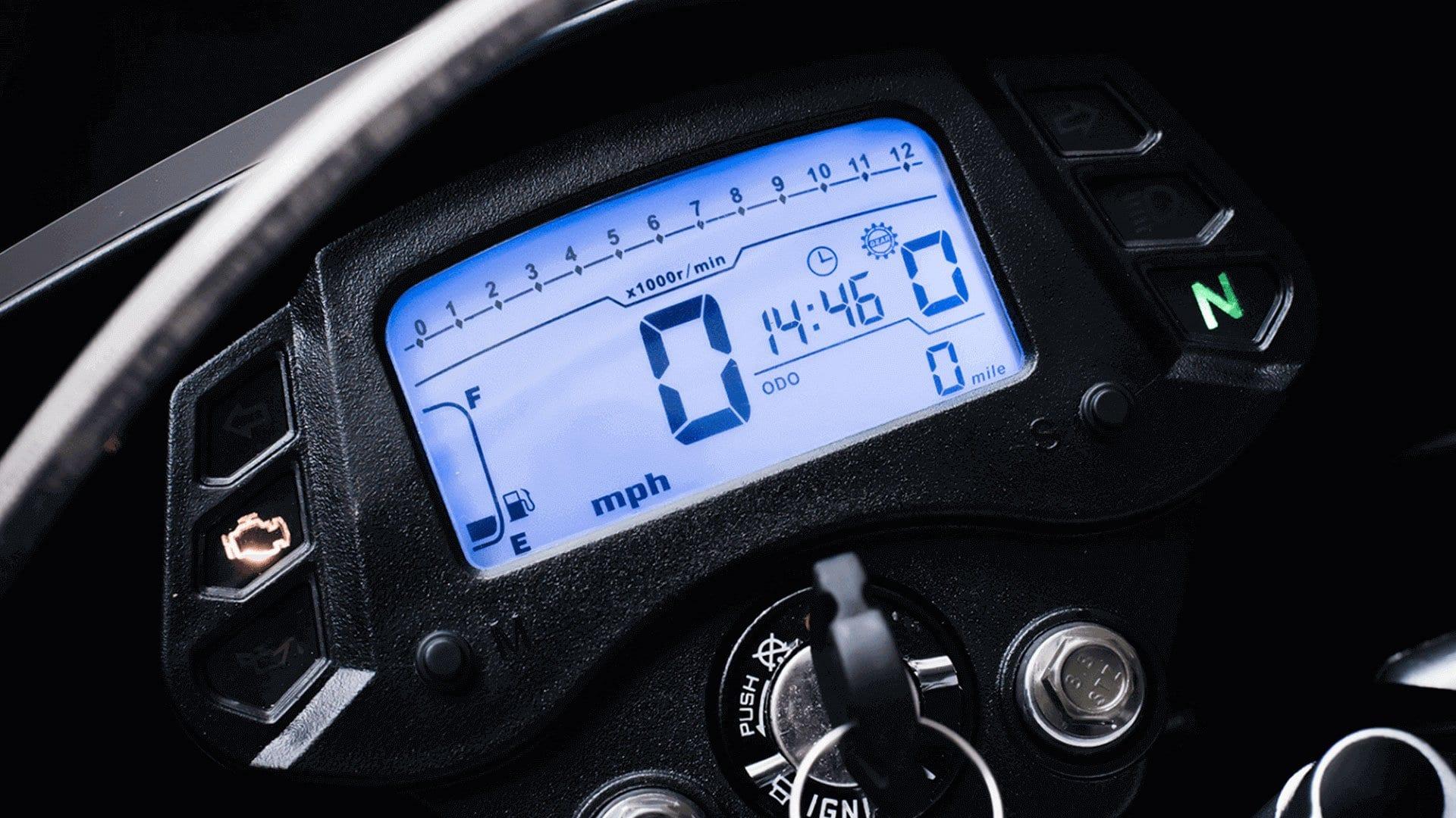 Sinnis Apache SMR 125cc dash