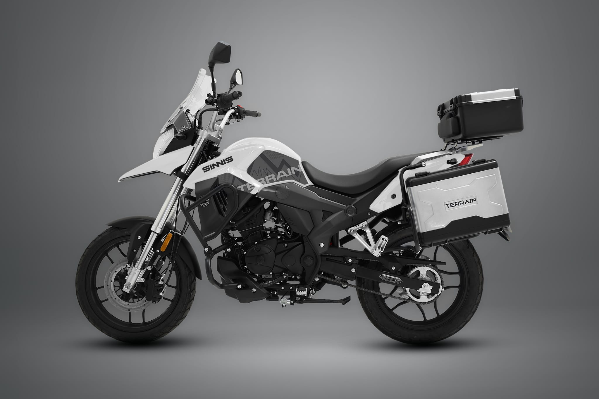 2021 Sinnis T125 Motorcycle arctic white