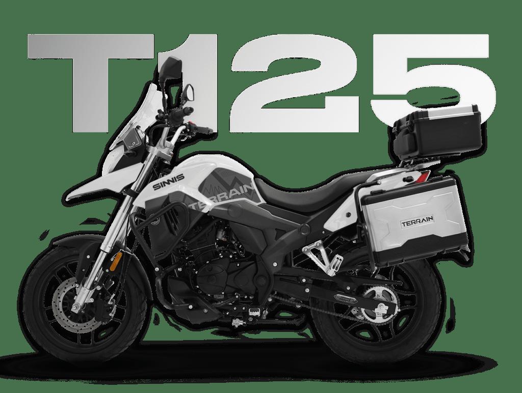 2021 Sinnis T125 Motorcycle white transparent